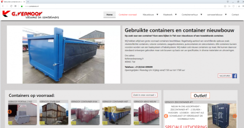website containers.nl Vernooy